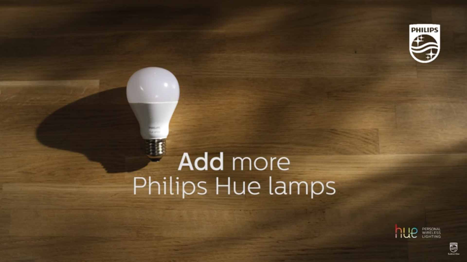Philips Hue add more lamps to your dimmer video