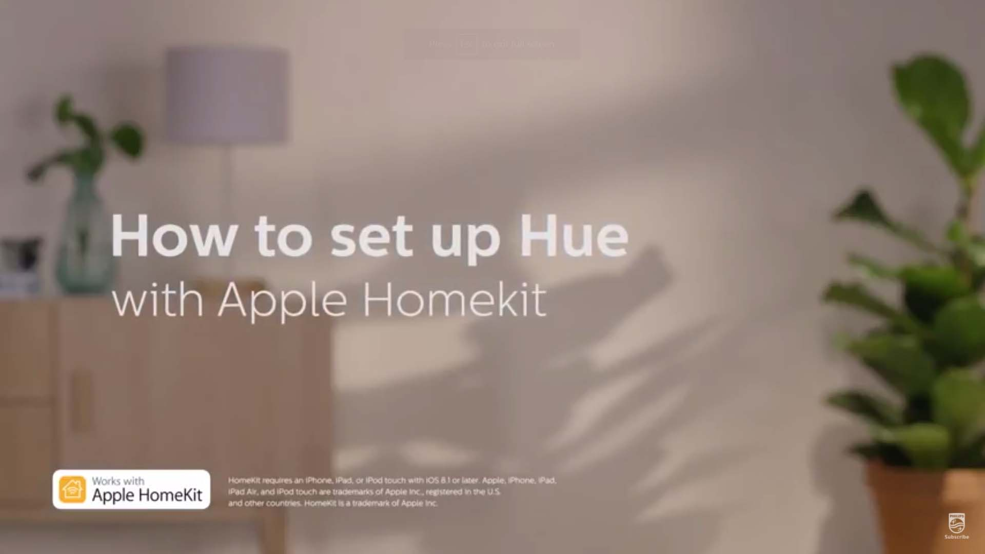 Philips Hue how to set up Hue with Apple Homekit