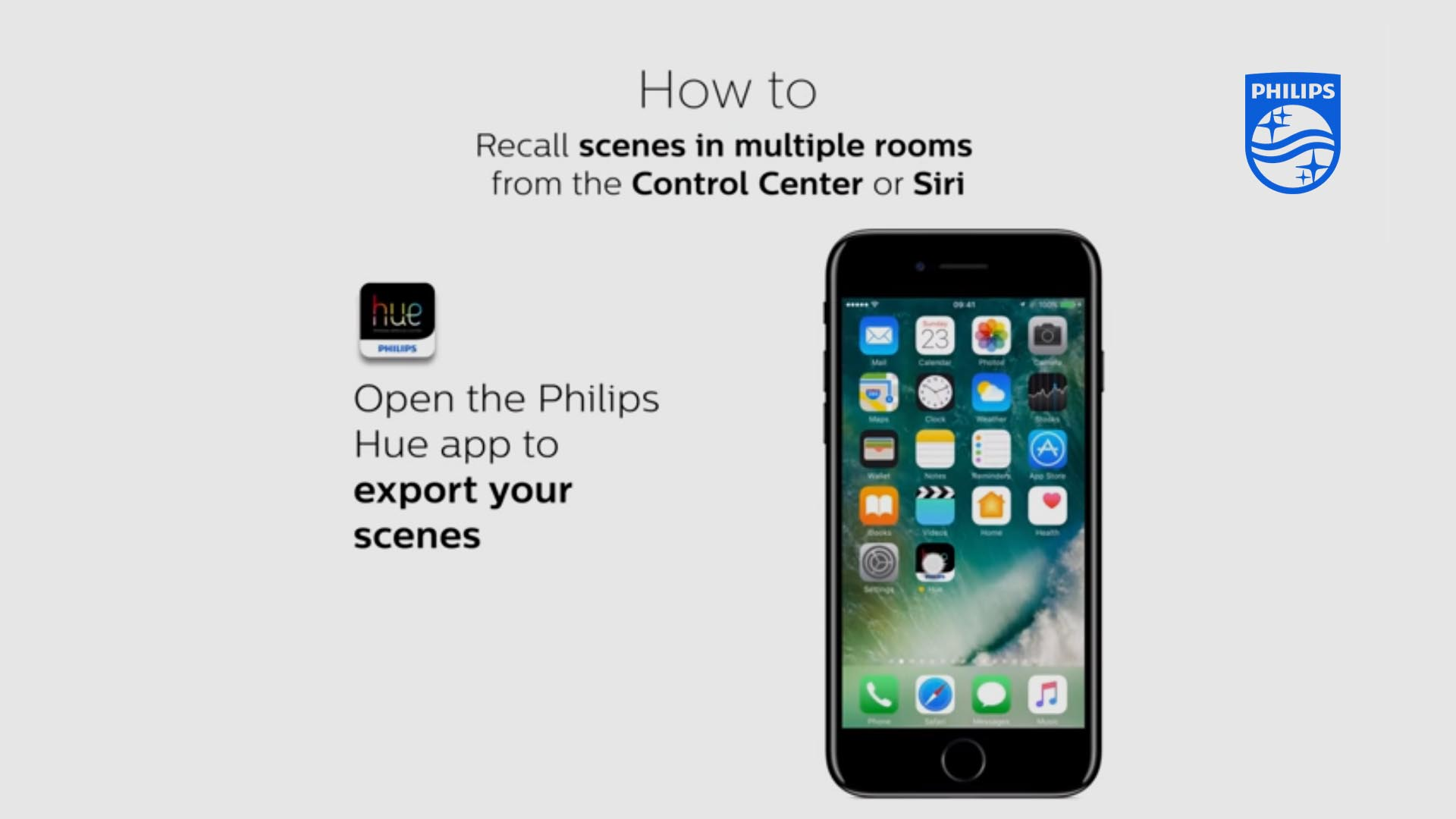 Philips Hue Apple homekit scenes video