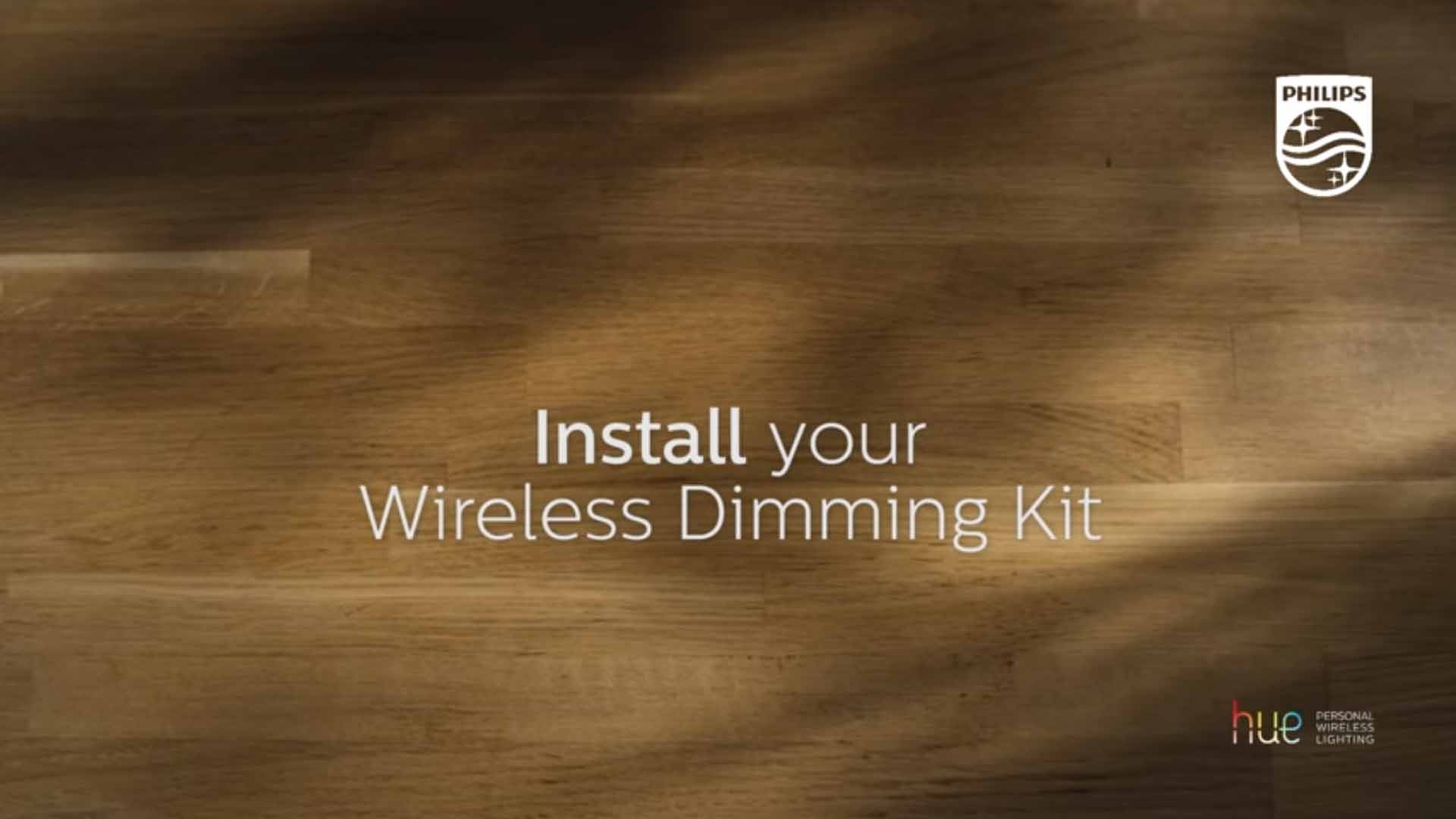 Philips Hue how to install wireless dimmer kit video
