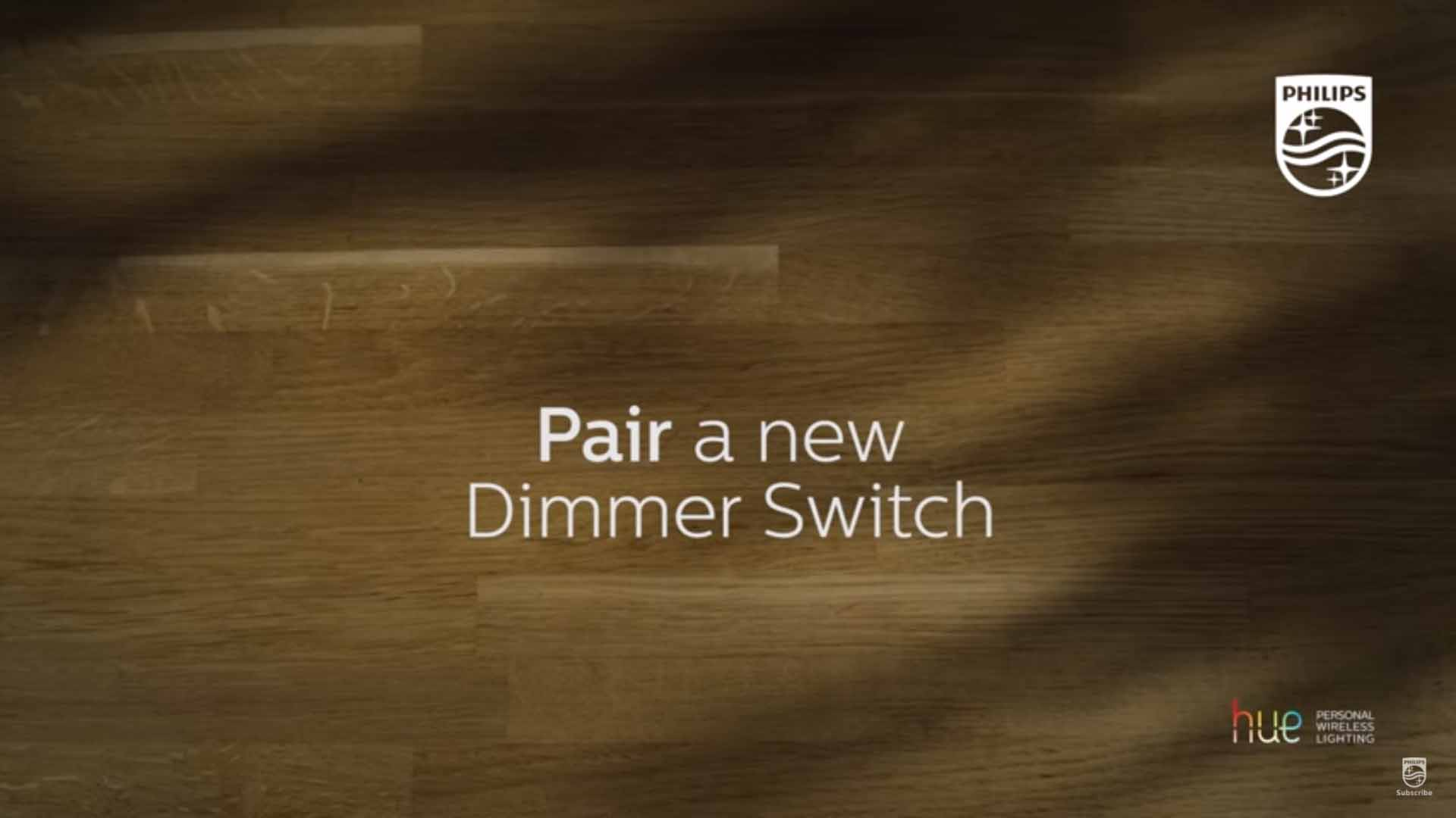 Philips Hue how to pair a new dimmer switch