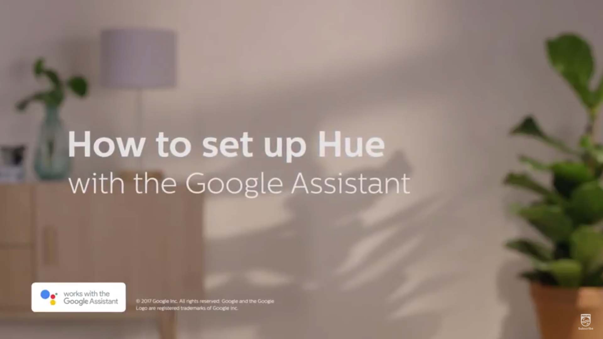 Philips Hue how to set up Hue with the Google Assistant