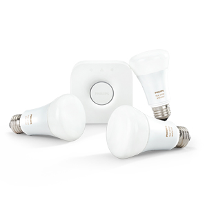 Philips Hue starter kit, one bridge, three bubls
