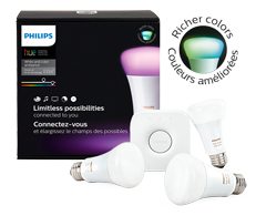 Philips Hue white and color ambiance starter kit A19