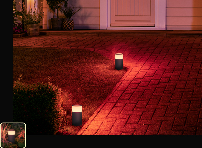 Hue white and color ambiance calla outdoor pathway light