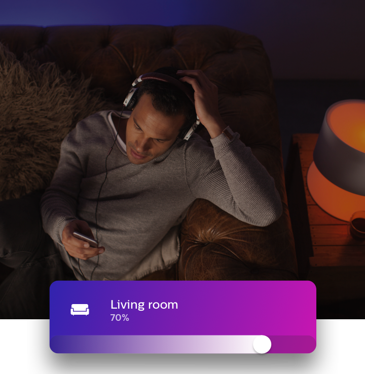 Phone controlled lights | Philips Hue app