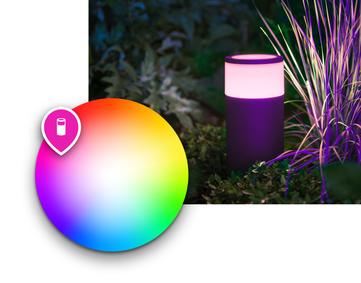 hue outdoor light color picker