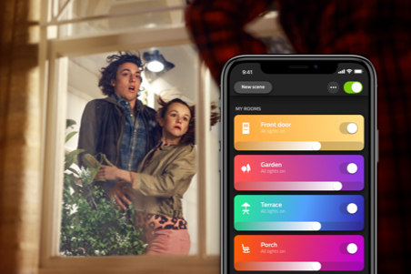 Hue outdoor lighting app